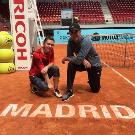 Simona Halep s-a reunit cu Darren Cahill la Madrid