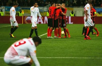 Sahtior egalata de Sevilla din penalty. Echipa lui Mircea Lucescu obligata sa castige returul