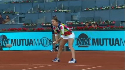 Simona Halep, demonstratie de forta in primul tur la Madrid