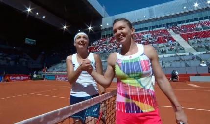 Sfert de finala romanesc la Madrid. Simona Halep o va intalni pe Irina Begu (joi, 15:00)