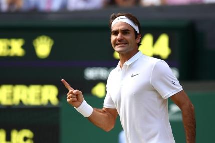 Federer salveaza trei mingi de meci cu Cilic si castiga in cinci seturi