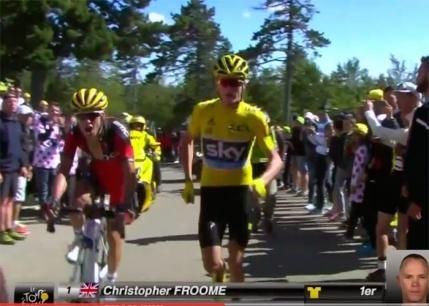 Chris Froome ramane cu tricoul galben dupa o decizie la masa verde