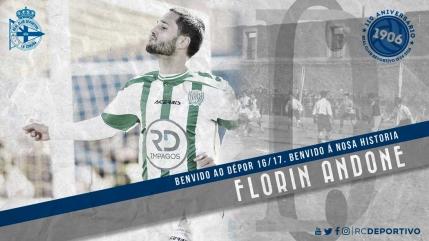 Florin Andone a semnat pe cinci ani cu Deportivo La Coruna