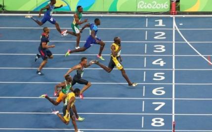 Usain Bolt, campion olimpic la 100m