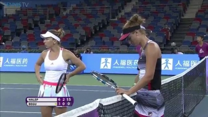 Simona Halep o invinge prin abandon pe Irina Begu in turul 2 la Wuhan