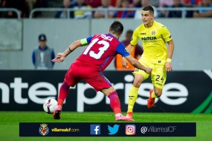 Steaua scoate egalul cu Villarreal. Un penalty urias refuzat ros-albastrilor