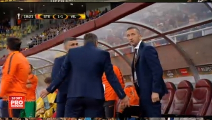 Suparare la gol? Reactie bizara pe banca Stelei dupa egalarea cu Villarreal