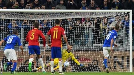 Italia salveaza cu un egal in fata Spaniei, Albania este liderul grupei