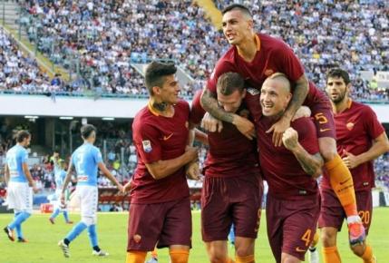 Roma castiga derby-ul cu Napoli si urca pe doi in Serie A. Chiriches a revenit pe banca