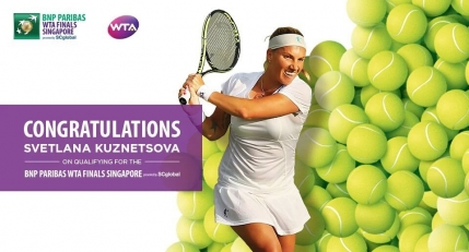 Svetlana Kuznetsova completeaza tabloul jucatoarelor la Turneul Campioanelor