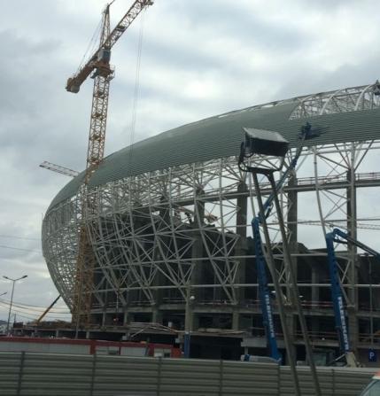 Stadionul din Craiova prinde contur pe zi ce trece (VIDEO)