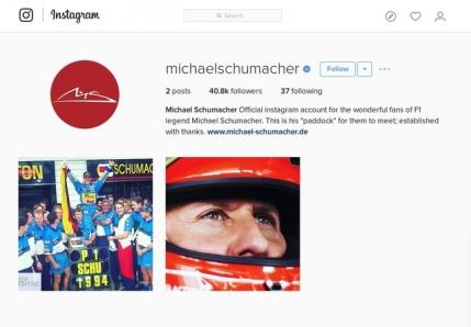 Michael Schumacher are cont oficial pe Instagram la 22 ani de la primul titlu mondial