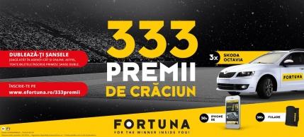 Castiga de Craciun 333 de premii cu FORTUNA