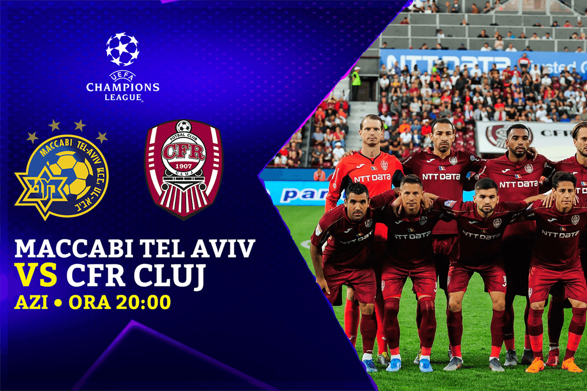 Asa am trait Maccabi Tel Aviv - CFR Cluj