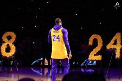 Kobe Bryant, omagiat la Staples Center (Video)