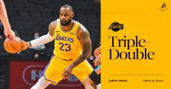 LeBron James, primul triple-double reusit in 2021